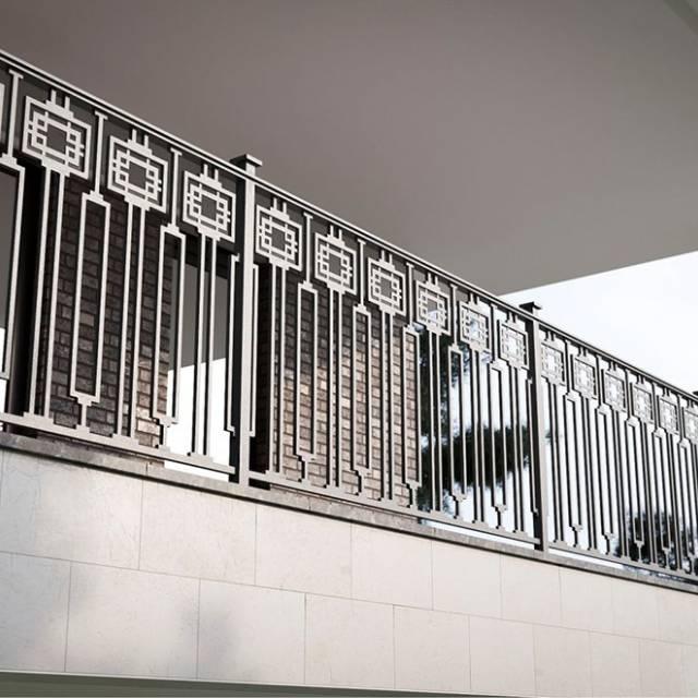 Modern metal fencing