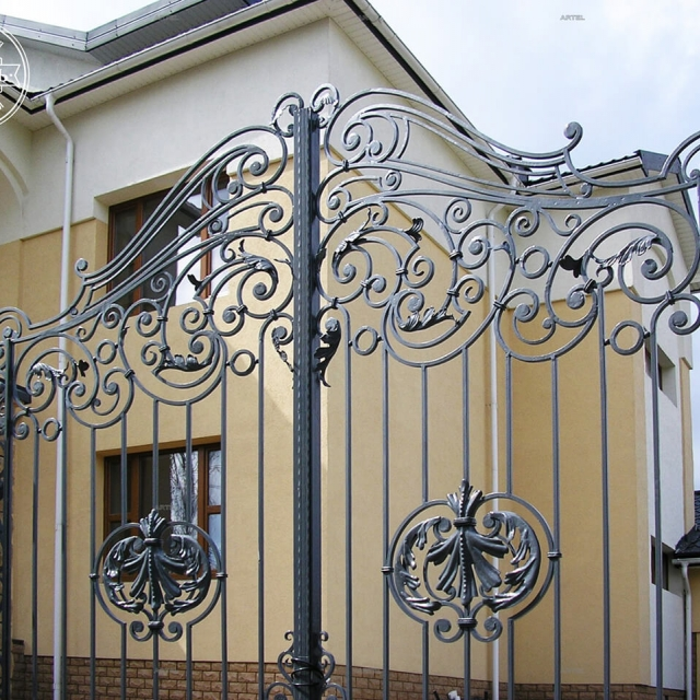 Wrought iron entrance gate