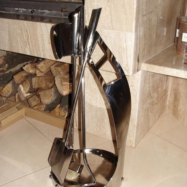 Stainless steel fireplace accessories